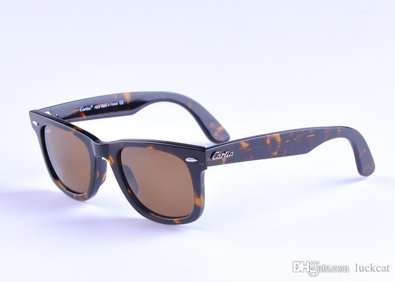 carfia 2140 50mm sunglasses plank frame glasses lens 2017 new arrival men women sun glasses 50mm 54mm with box