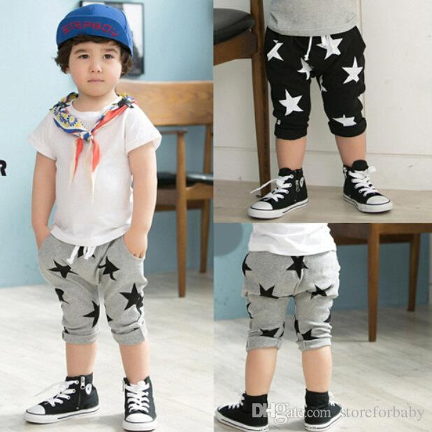 2017 high quality Harem pants boy clothes pants star kids pant child clothing for cute boy summer hot sell from china