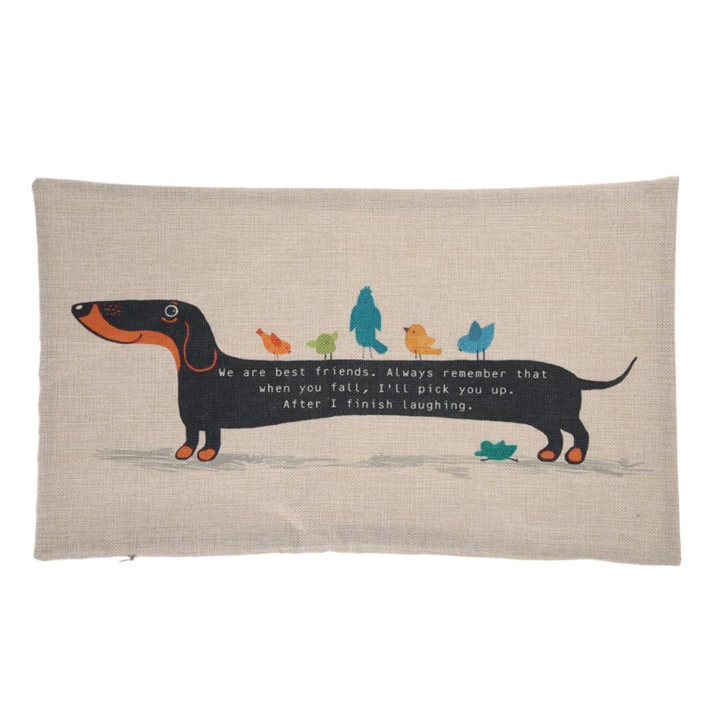 30X50 cm Dachshund Köpek Minder Kapak Sosis Köpek Yavrusu Yastık Kılıfı Yastık Kapak Köpek Yastık Kapakları Kanepe Kalın pamuk Keten Yastık