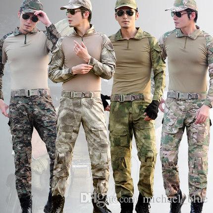 fb6e97c87da9 Compre Gen3 Uniforme De Combate Táctico Con Las Almohadillas Camuflaje Caza  Al Aire Libre G3 Rana Uniforme Airsoft Ropa Set Hombres Caza Camisa  Pantalones ...