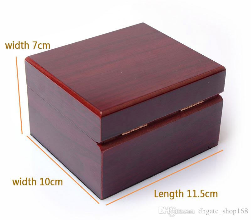 vintage Watches Boxes brown Fashion wood watch box with pillow package case wristwatches boxes