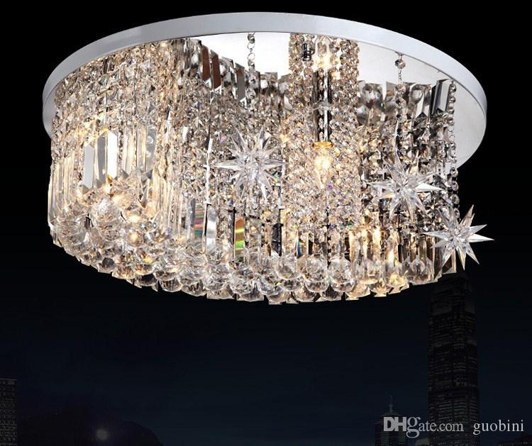 Modern fashion moon stars k9 crystal ceiling lamp crystal modern fashion moon stars k9 crystal ceiling lamp crystal chandelier living room lights dia 650mm bedroom chandeliers wood chandelier from guobini mozeypictures Gallery