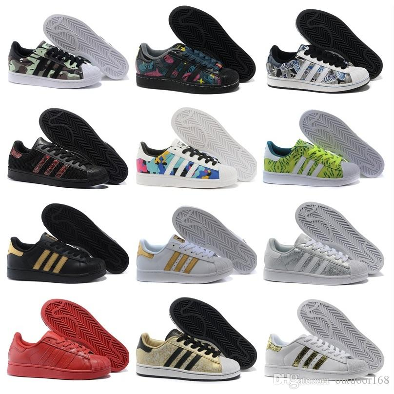 Adidas Originals 2018 Superstar Men\u0027s \u0026 Women\u0027s Foundation Casual Sneaker  Shoes Classic GOLD Black White Eur Size 36-45 Basketball Shoes Men Shoes  Running ...