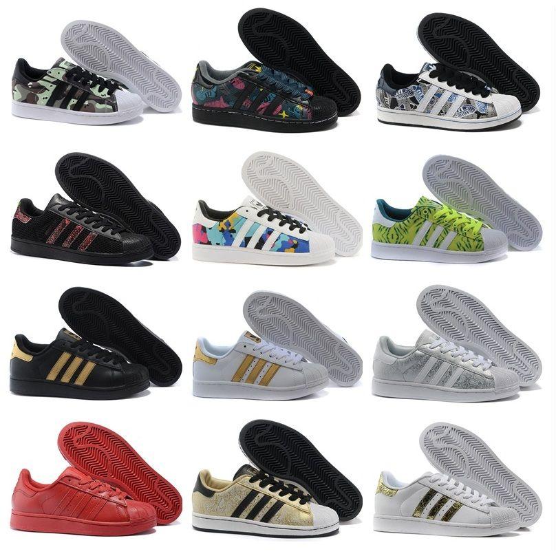 Adidas Originals 2018 Superstar Men\u0027s \u0026 Women\u0027s Foundation Casual Sneaker  Shoes Classic GOLD Black White Eur Size 36-45 Basketball Shoes Men Shoes  Running ...