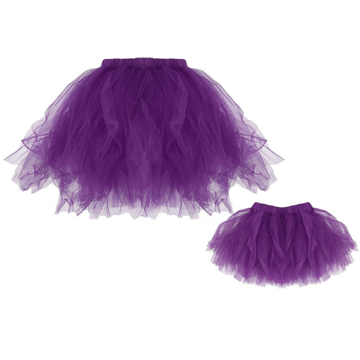 Mother and Daughter Dress Family Clothes Mommy Mom Girls Matching Tutu Skirt Fashion Tulle Summer Multi Color Hot Sale