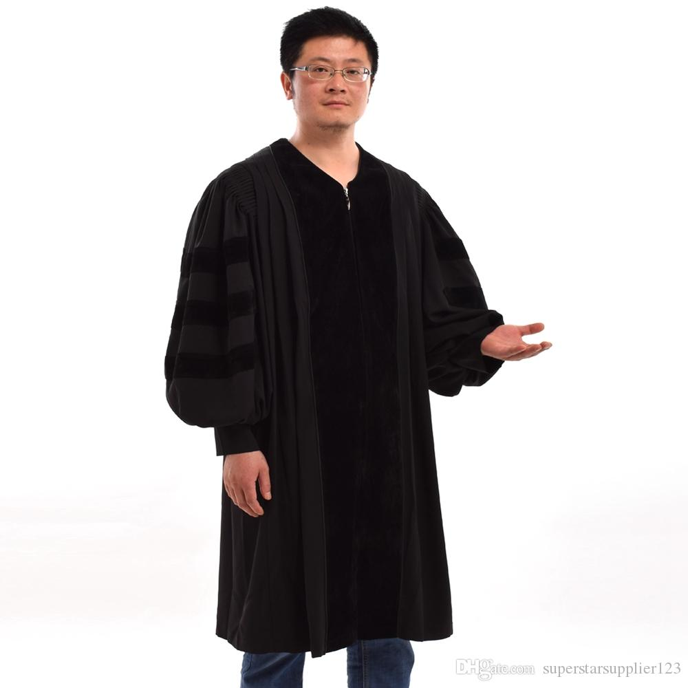 779f7e5696 Men Black Pulpit Pastor Robe Unisex Adults Cleric Clergy Robe Doctoral Gown  High Quality Fast Shipment Nurse Halloween Costumes Elmo Halloween Costume  From ...