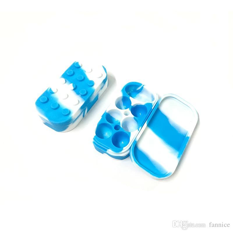 ReusableDurable Антипригарного силиконового Контейнер Bho кремний Box ванна Jar Wax New 4мл * 6 + 10 мл * 1