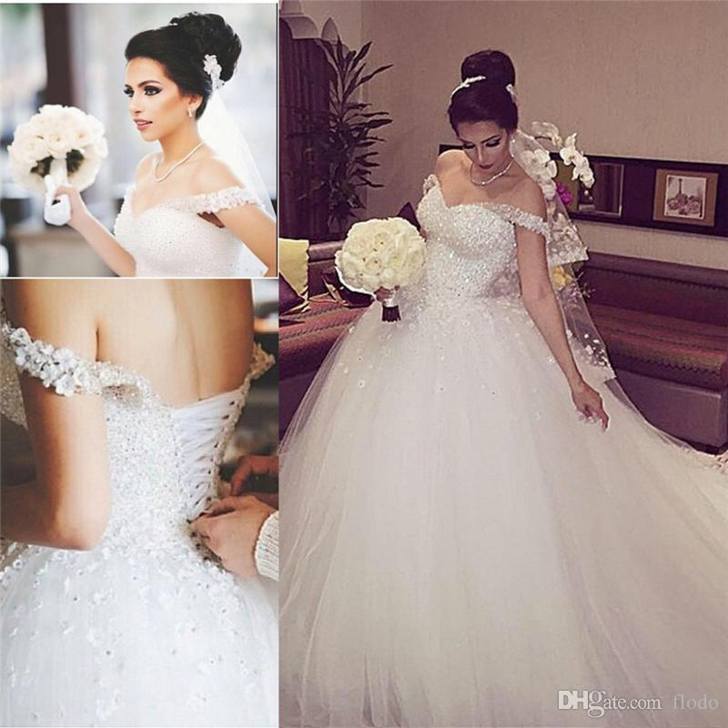 bling beaded lace applique ball gown wedding dresses 2017 off