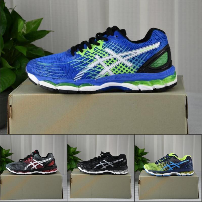 en soldes a346a 74943 2019 Asics Nimbus 17 Running Shoes For Men Black Blue Grey Burgundy Top  Quality Designer Sneakers Men Sports Shoes Size 36-45