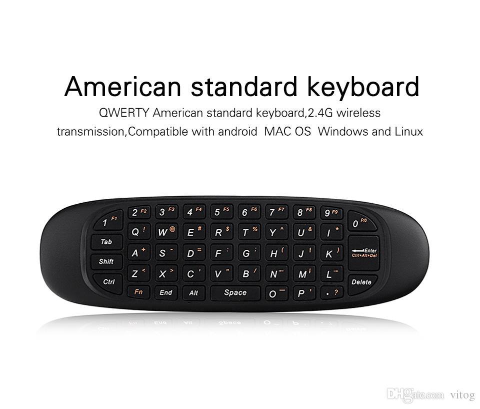 Fly Air Maus H2 Wireless Tastatur sechs-Achsen-Spiele Android Fernbedienung Schwerkraftinduktion Wiederaufladbare 2,4 GHz Tastatur Für Smart TV-Box