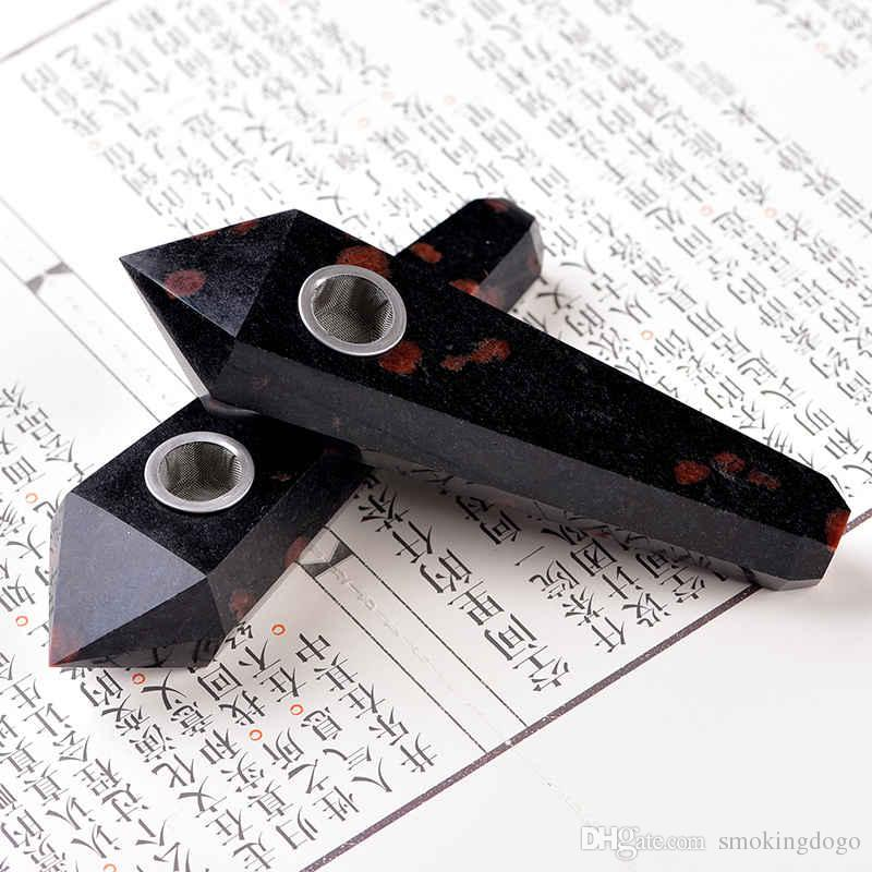 Smoking Dogo 2017 New Arrival Hand Made High Quality Natural Crystal Smoking Pipes Garnet Pipe Tobacco Pipes Hand Pipe CPP-020