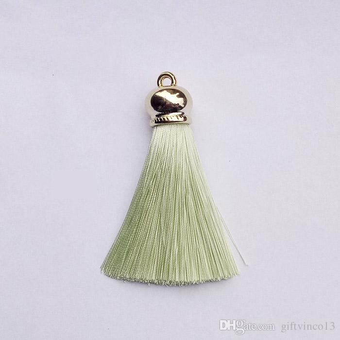Fashion Silk Satin Tassel Charms Multi Colors Bags Keychains Earrings Jewelry Tassels Women DIY Jewelry Making Finding Accessories Wholesale