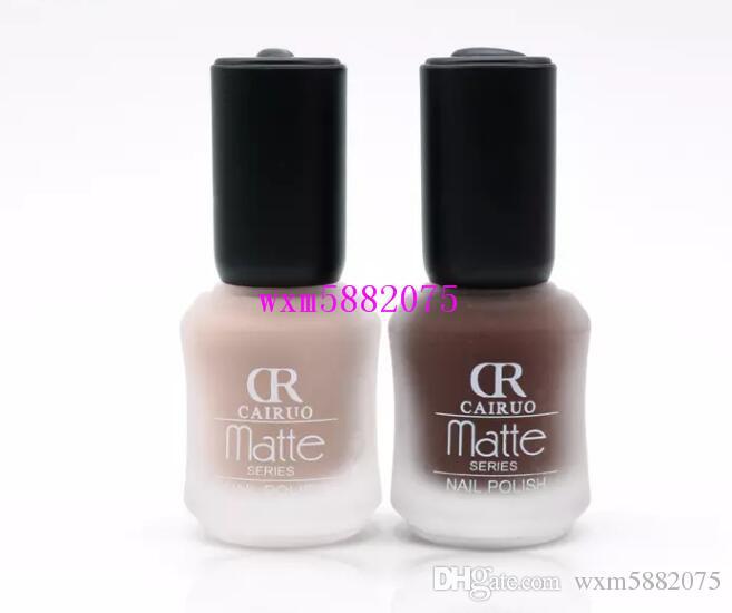 2017 fashion nice bottle Design CR Brand New Character Matte Gel Nail Polish Lasting 15ML Nail Art Black White MATTE Nail Polish