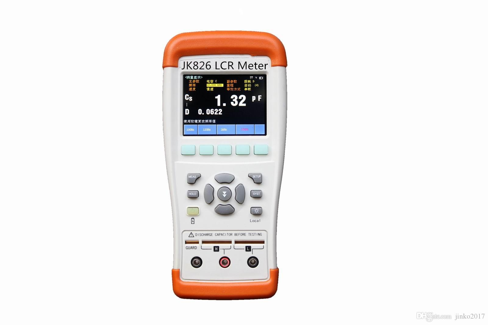 Cheap Jk826 Precision Handheld Lcr Meter With Lcd Display Auto Digital Electric Bridge Resistance Capacitance Inductance Esr Online