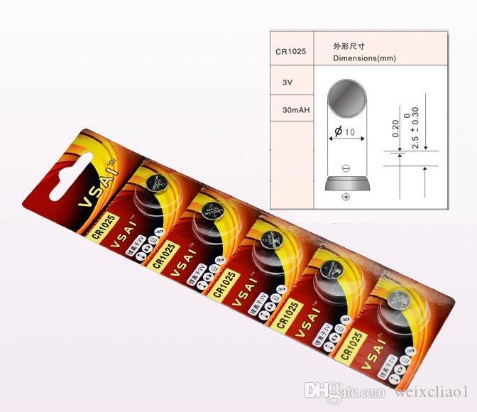 1 CR1025 3V Lithium li ion button cell battery CR 1025 3 Volt li-ion coin batteries VSAI