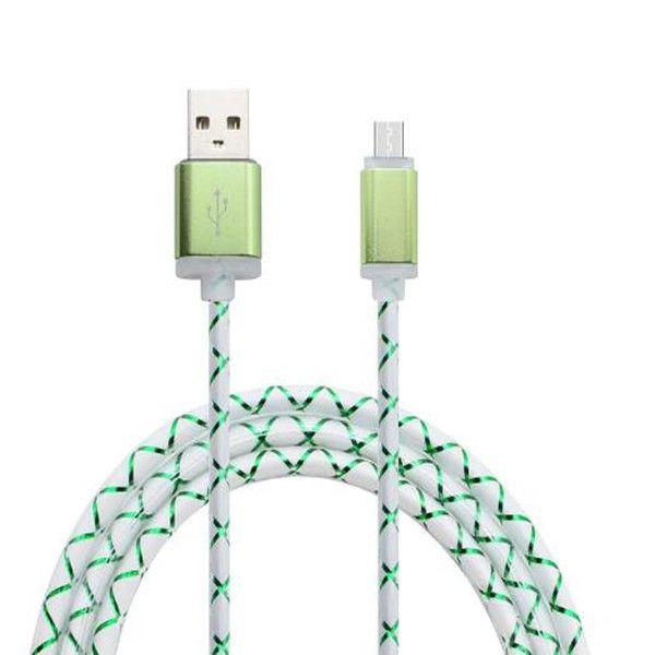 Универсальный светодиодный свет вспышки 1 м 3 фута металлический сплав micro 5pin usb кабель для зарядки данных провод для samsung s6 s7 edge note 2 4 htc android телефон 6 7 8