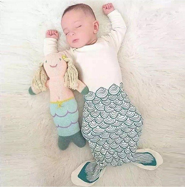 New Arrival Infant Baby Mermaid Sleepsack Sleeping bags Baby cotton Sleeping Bag Animal sleeping blanket baby clothing for Newborn Q0547