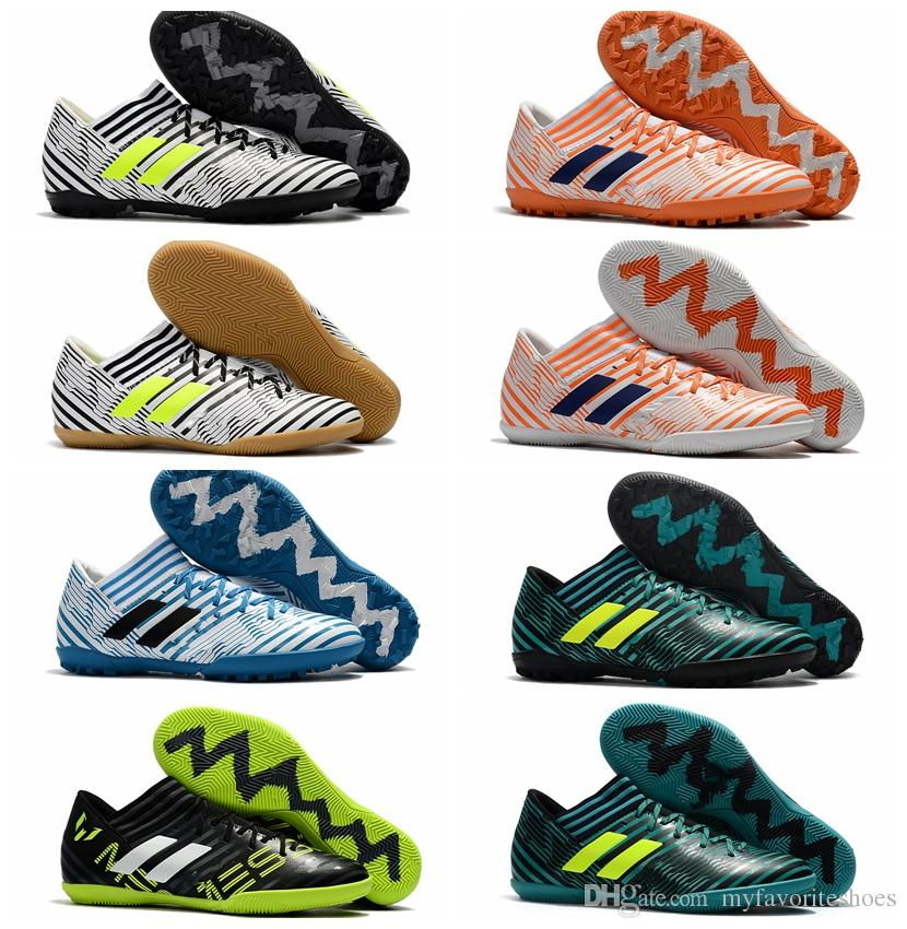dab8ed56b 2018 Futsal Shoes Men Soccer Cleats Nemeziz Tango 17.3 IC TF Soccer Shoes  Indoor Soft Ground Football Boots Cheap Nemeziz 17 Kids Leather Baby  Leather Pram ...