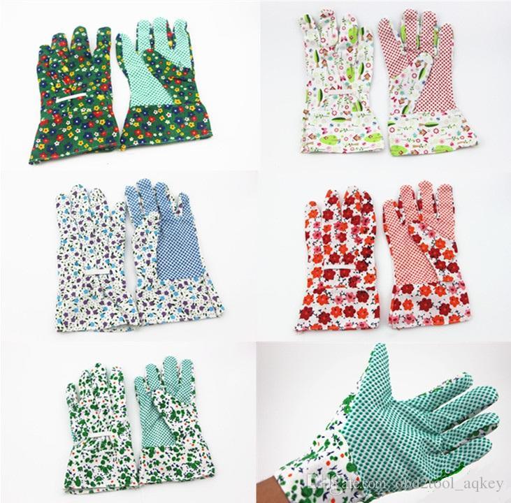 Garden Gloves عدم الانزلاق ارتداء مقاومة البستنة العمل القفازات الواقية حديقة الزهور نمط