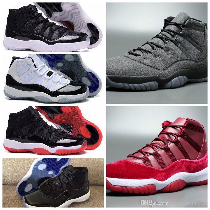 9d8dd6546c67a6 Mens 11 Wool Basketball Shoes Brand XI Velvet Heiress Bred 72-10 ...