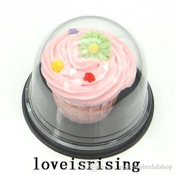 Clear Plastic Cupcake Cake Dome Favor Boxes Container Wedding Party