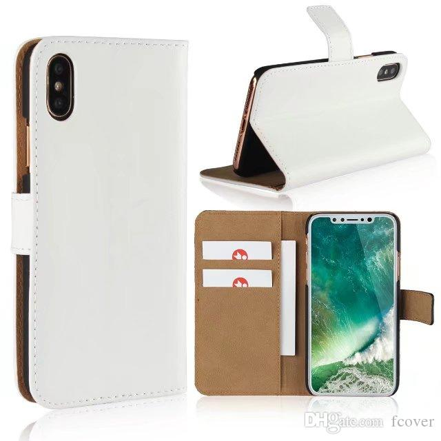 For iphone X XR & iphone XS Max Wallet Case,New Book Style Stand Genuine Leather Cases Card Flip Cover For Apple iphone 8 PLus Cases