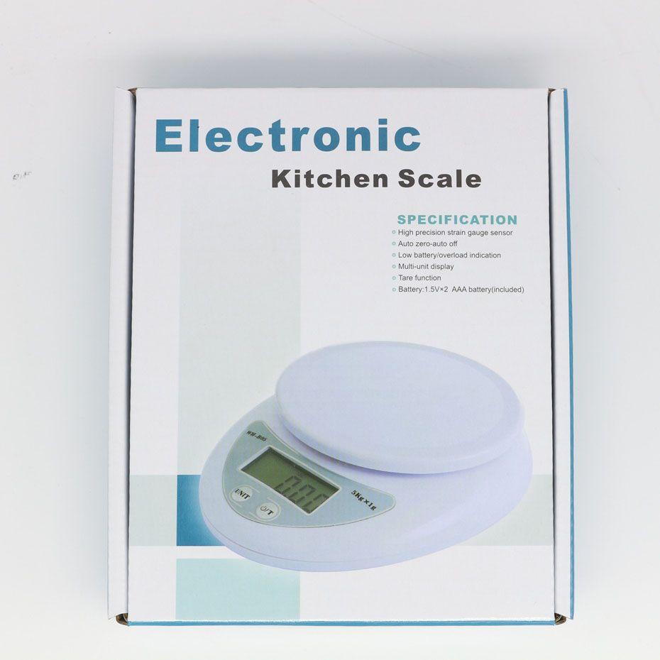 5 кг 5000 г/1 г цифровой кухня питание Диета почтовые весы электронные весы скамейка Весы баланс взвешивания светодиодные электронные WH-B05