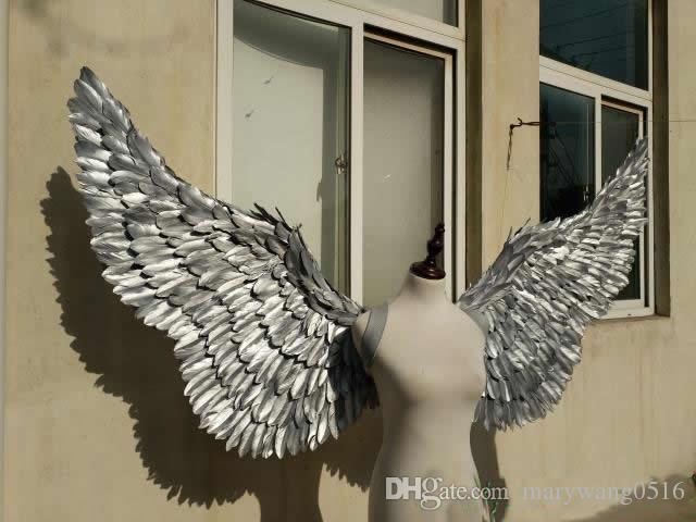 accessoires de mode ailes d'ange de ruban de haute qualité danse fournitures de performance scénique magnifique tir des accessoires Livraison gratuite à la main pure