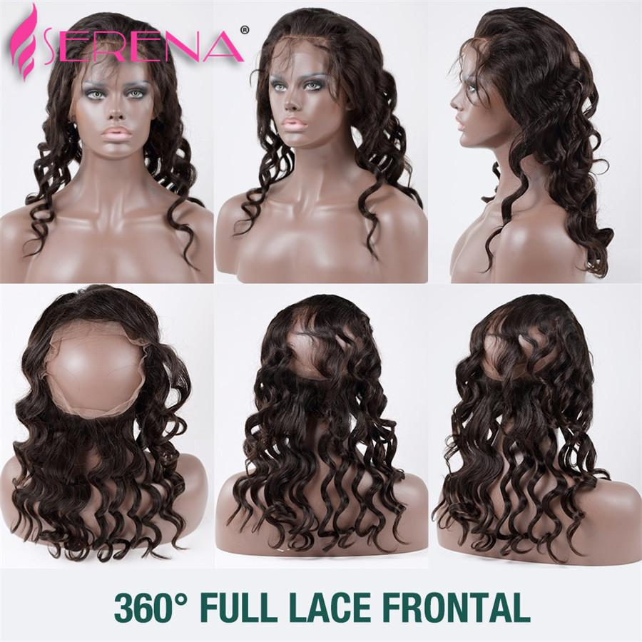 360 Lace Frontal Closure With Bundles Loose Wave Peruvian Virgin Hair With Frontal Closure Body wave Preplucked 360 Lace Virgin Hair Weave