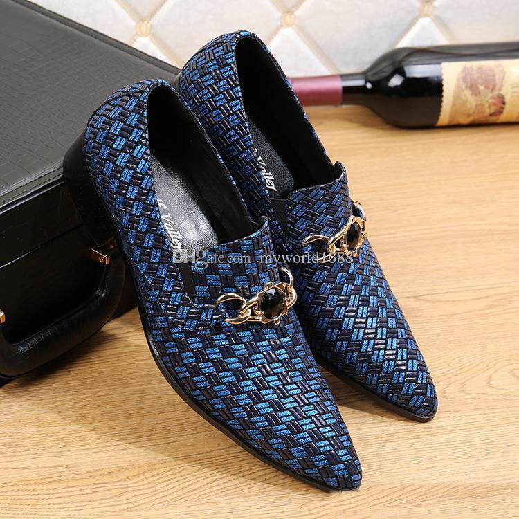 Итальянский стиль мужчины платье обувь повседневная мода дизайнер подлинной бизнес тканые кожаные ботинки мужчины квартиры мужской ног носить свадебную обувь