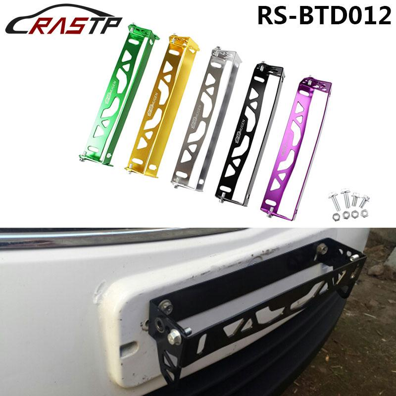 RASTP -Mugen Car Styling Adjustable Rotating Number Plate Auto ...