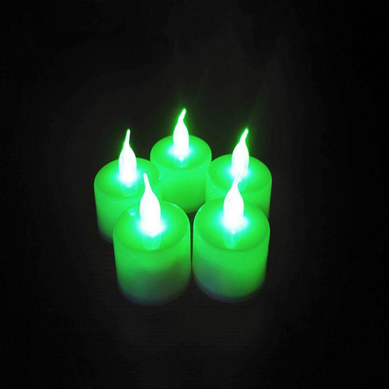 Decoração da festa de casamento único Multicolor Disponível giratória eletrônico Night Light Quarto de Natal LED Vela Velinha