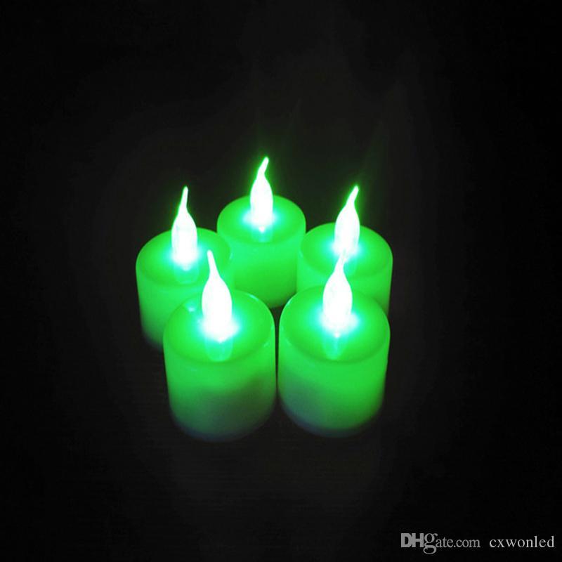 단일 여러 가지 빛깔의 사용 가능한 스위블 전자 나이트 라이트 장식 룸 크리스마스 웨딩 파티 LED 캔들 티 라이트