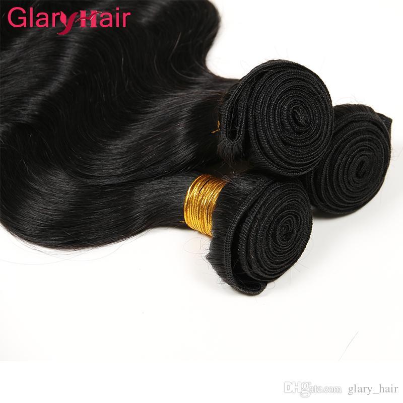 Glary trame doppi tessuti a buon mercato vergine brasiliana dei capelli dell'onda del corpo bagnato ed ondulato estensioni dei capelli umani malese visone capelli brasiliani fasci