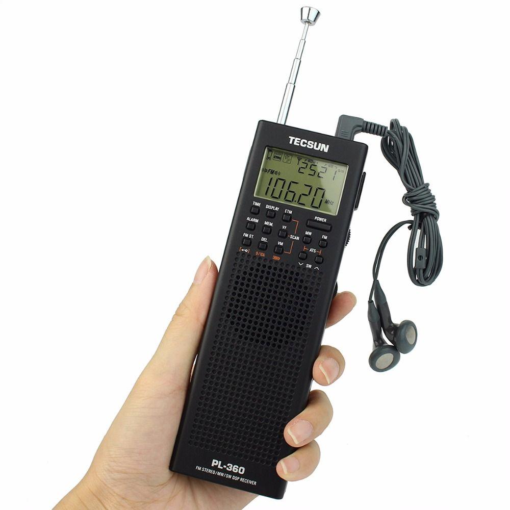 Wholesale-Tecsun PL-360 Radio DSP Receiver FM MW SW LW External AM Antenna  Outdoor Antenna Portable Radio Recorder Y4131A