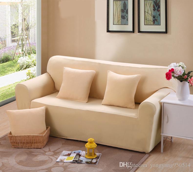 235-310 cm Moderno Colore Puro Moda Divano Copre Per Soggiorno Copridivano  Estensibile Cuscino Divano Lavabile Fodere A Buon Mercato