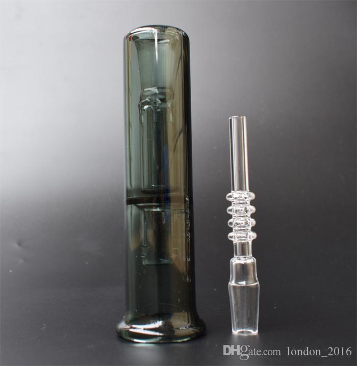 2021 Collezionista del nettare con al quarzo in titanio al quarzo Banger Nail 14mm mini tubo di vetro tubo di vetro Bong Bong