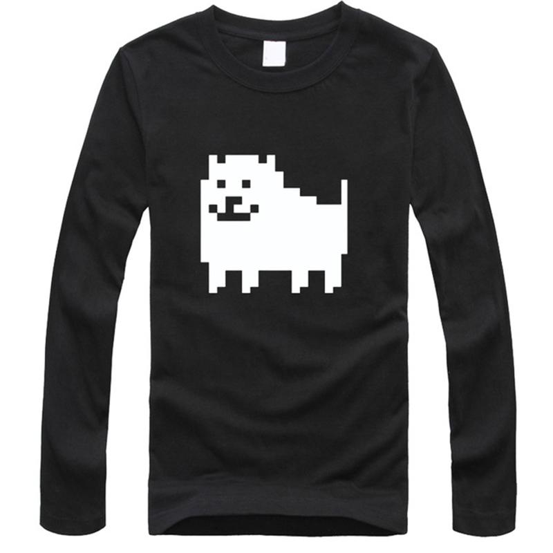 Undertale T Shirt Men Long Sleeve Game Tops Annoying Dog Funny ...