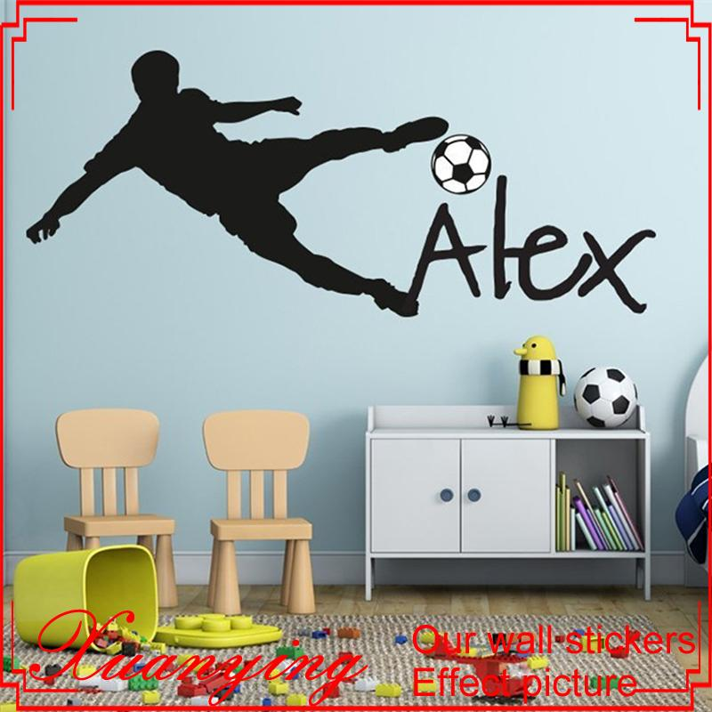 Football Soccer Ball Personalized Name Vinyl Wall Decal Sticker Art  Children Wall Sticker Kids Room Decor Home Decoration