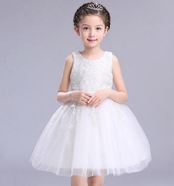 2018 niñas derss elegantes niños gasa burbuja nuevo patrón linda encantadora contratada suave Vestidos del desfile Tulle con volantes princesa vestido de hada