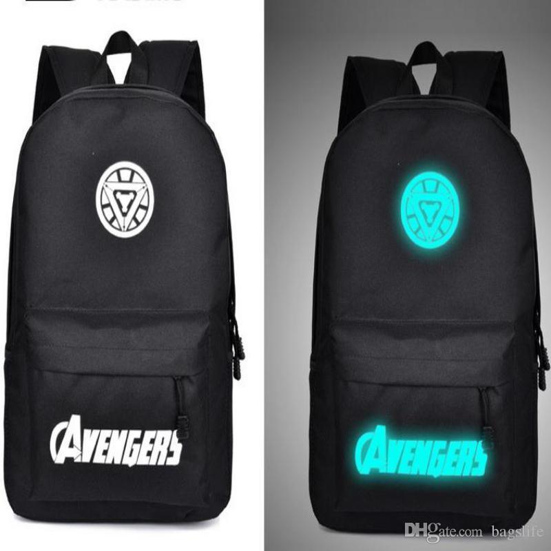 98ec3e86d8 Fashion Night Light Backpack Canvas Backpacks Luminous School Bags ...