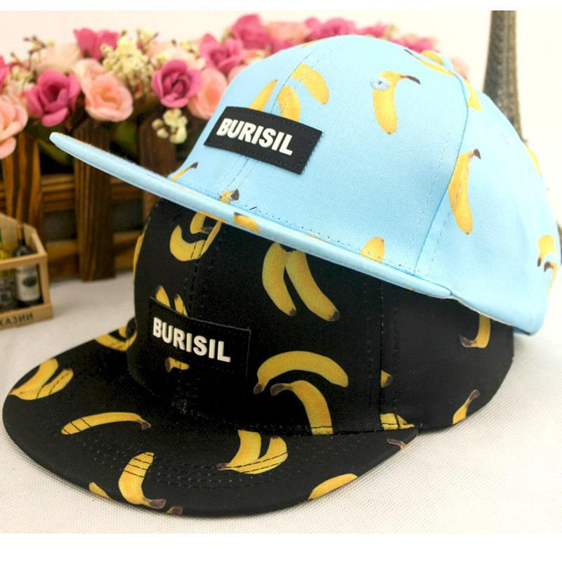 High Quality Fruit Banana Ananas Peach Printing Cap Fashion Burisil ... 41900731c897