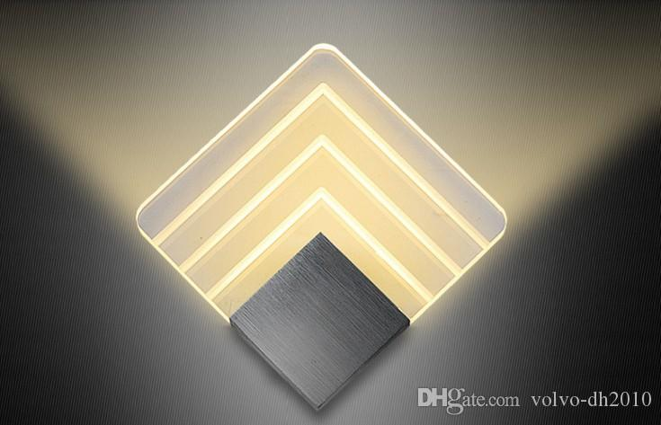 Brushed chrome wall lamp with transparent and satin glass led