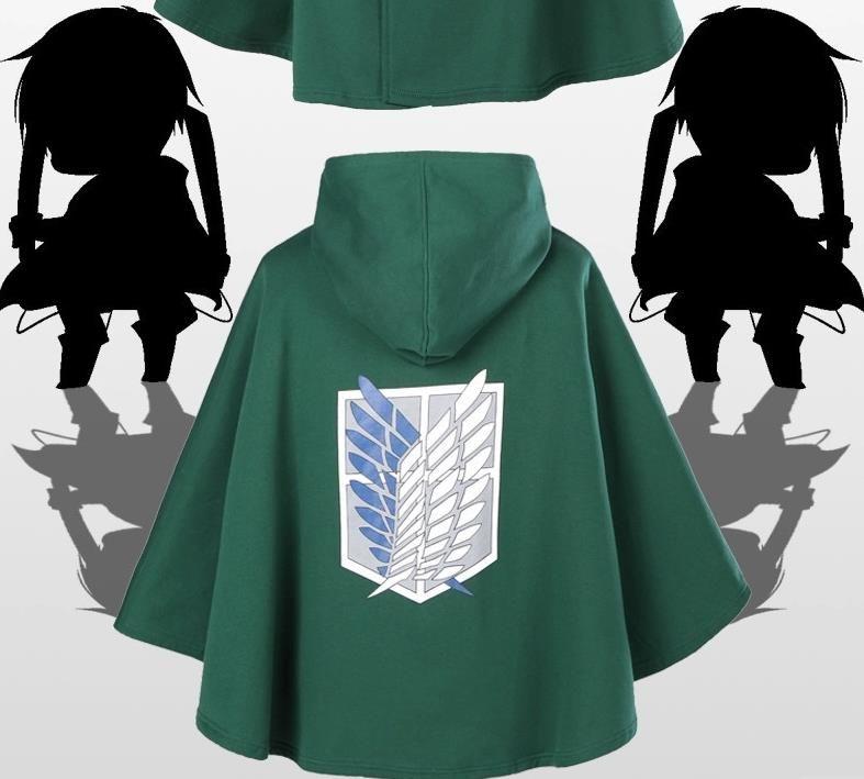Anime Attack On Titan Cosplay Cloak Shingeki No Kyojin The