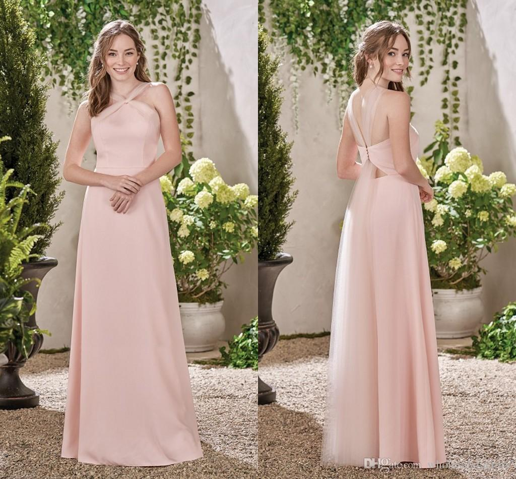 Pink a line bridesmaid dresses 2017 simple long off the shoulder pink a line bridesmaid dresses 2017 simple long off the shoulder bridesmaid gowns open back unique design wedding guest dresses rose bridesmaid dresses ombrellifo Image collections
