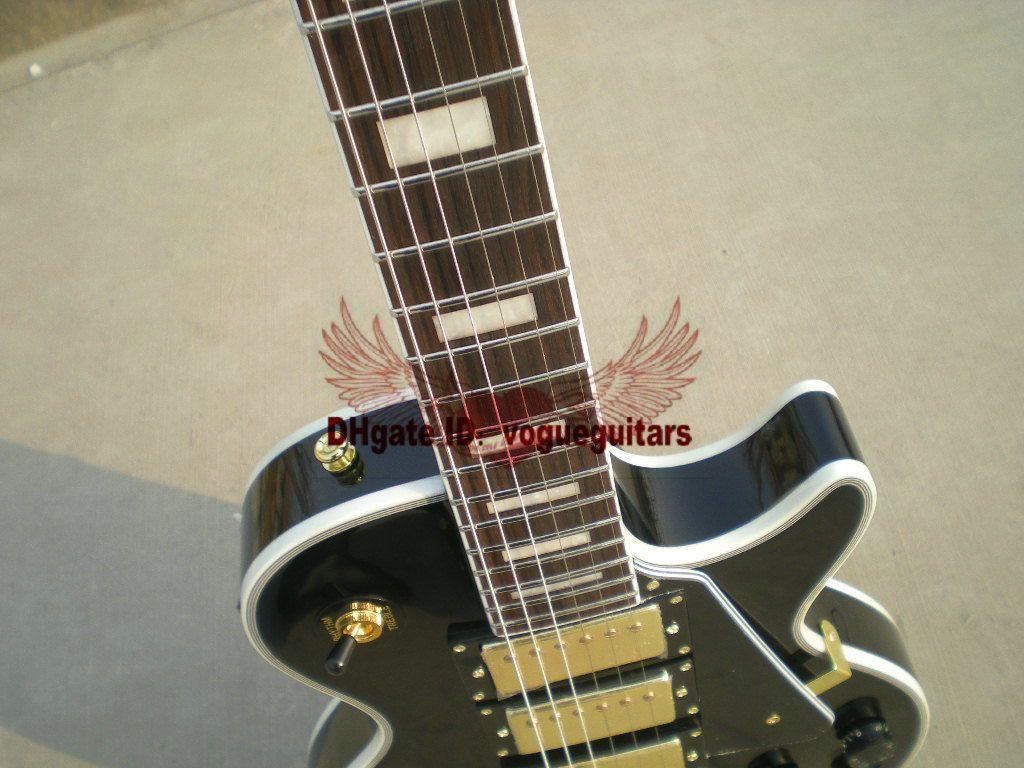 Wholesale Custom Black Beauty 3 Pickups Electric Guitar fret bingding Best Selling Musical instruments