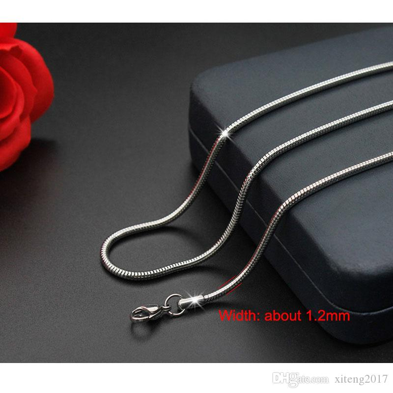 10 Types 316L Stainless Steel Chain Necklace Wholesale Custom Width Length Beads Bamboo Water-wave Snake Chain Women Men Wholesale