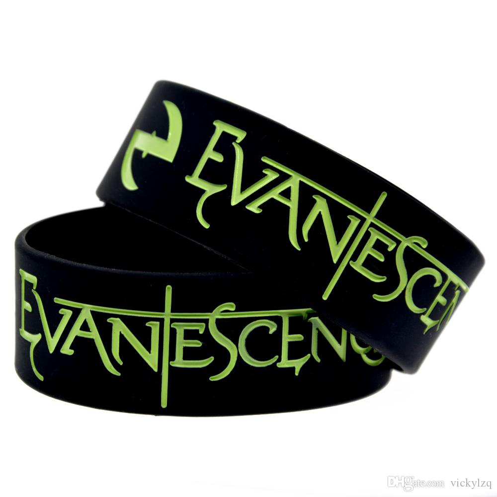 Rock Style Band Evanescence 1 Inch Wide Silicone Rubber Wristband Adult Size For Music Fans Gift