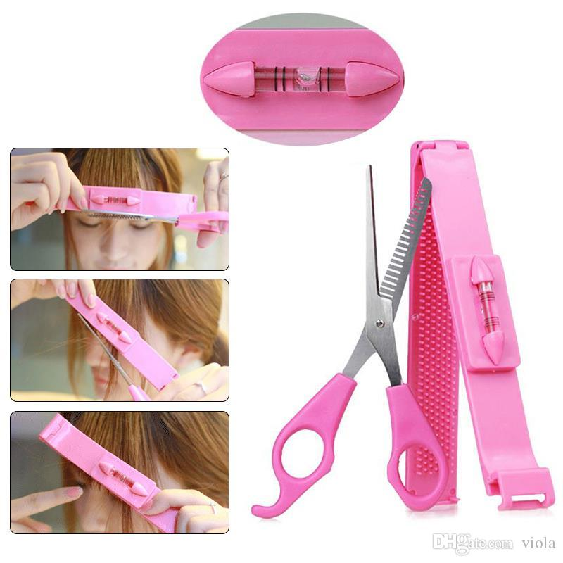 Fringe Bangs Hair Cutter DIY Guide Layers Thinning Cutting Comb Trimmer Styling Tools Cut Kit Hair Clip