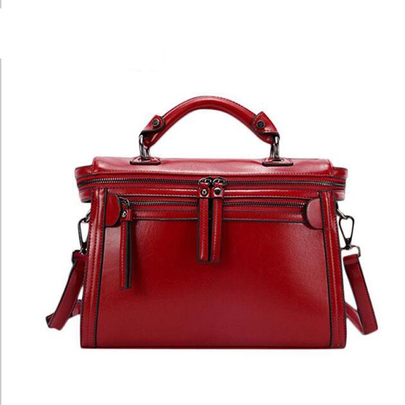 a4a3bf2e1829 Wholesale 2016 Hot Zipper Decoration Women Famous Brand Bags Female Leather  Bags Top Handle Bag Motorcycle Handbag Tote Sac A Main Bolsas Rosetti  Handbags ...